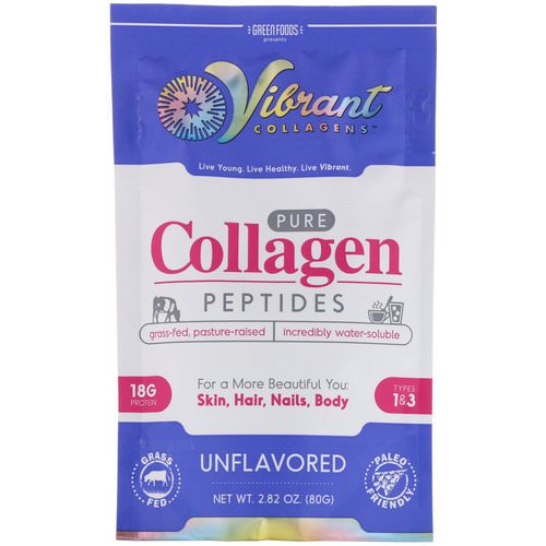 Green Foods, Vibrant Collagens, Pure Collagen Peptides, Unflavored, 2.82 oz (80 g) Review