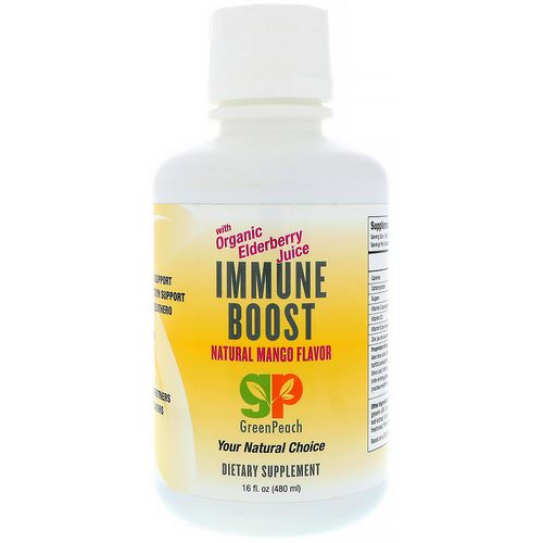 GreenPeach, Immune Boost, Natural Mango Flavor, 16 fl oz (480 ml) Review