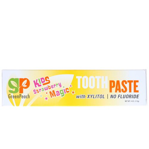 GreenPeach, Kids, Strawberry Magic Toothpaste, 4 oz (113 g) Review