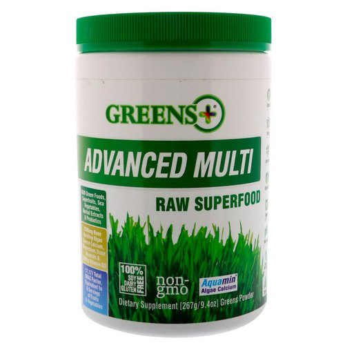 Greens Plus, Advanced Multi Raw Superfood, Greens Powder, 9.4 oz (276 g) Review