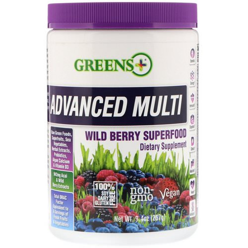 Greens Plus, Advanced Multi, Wild Berry Superfood, 9.4 oz (267 g) Review