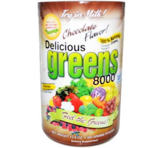 Greens World, Delicious Greens 8000, Chocolate Flavor, Powder, 10.6 oz (300 g) Review