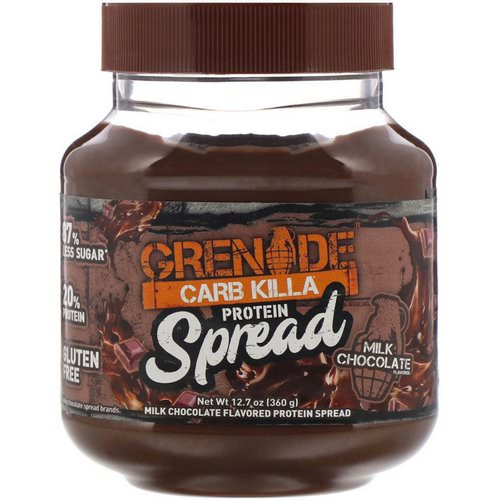 Grenade, Carb Killa Protein Spread, Milk Chocolate, 12.7 oz (360 g) Review