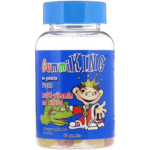 GummiKing, Multi-Vitamin & Mineral, For Kids, 60 Gummies Review