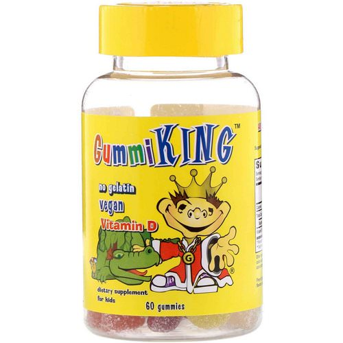 GummiKing, Vitamin D for Kids, 60 Gummies Review