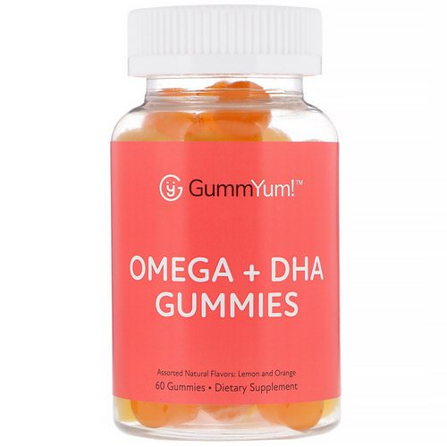 GummYum! Omega + DHA Gummies, Assorted Natural Flavors, 60 Gummies Review
