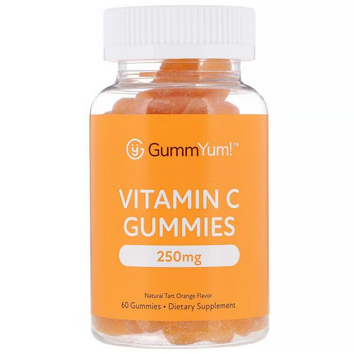 GummYum! Vitamin C Gummies, Natural Tart Orange Flavor, 125 mg, 60 Gummies Review