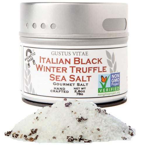 Gustus Vitae, Gourmet Salt, Italian Black Truffle Sea Salt, 2.8 oz (76 g) Review