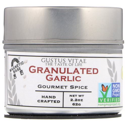 Gustus Vitae, Gourmet Spice, Granulated Garlic, 2.2 oz (62 g) Review