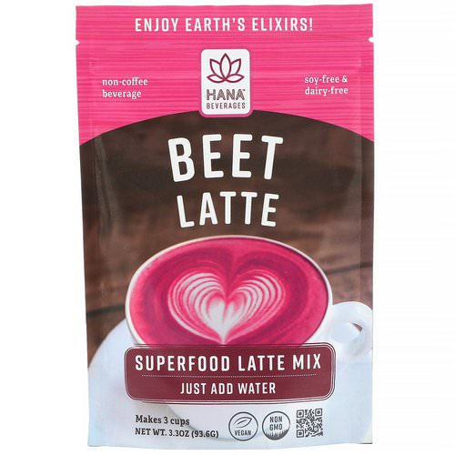 Hana Beverages, Beet Latte, Non-Coffee Superfood Beverage, 3.3 oz (93.6 g) Review