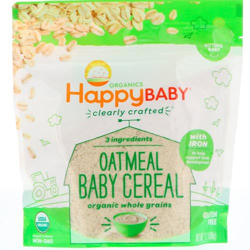Happy Family Organics, Clearly Crafted, Oatmeal Baby Cereal, 7 oz (198 g) Review