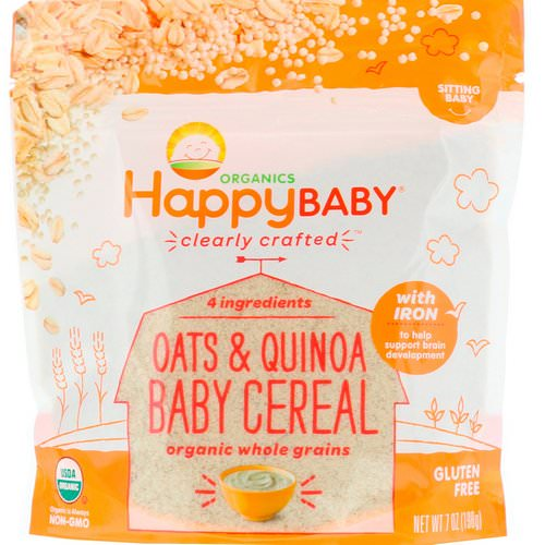 Happy Family Organics, Clearly Crafted, Oats & Quinoa Baby Cereal, 7 oz (198 g) Review