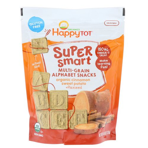 Happy Family Organics, Happy Tot, Super Smart, Multi-Grain Alphabet Snacks, Organic Cinnamon Sweet Potato + Flaxseed, 4.4 oz (125 g) Review