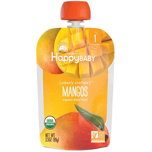 Happy Family Organics, Organic Baby Food, Stage 1, Clearly Crafted, Mangos, 4 + Months, 3.5 oz (99 g) Review