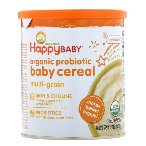 Happy Family Organics, Organic Probiotic Baby Cereal, Multi-Grain, 7 oz (198 g) Review