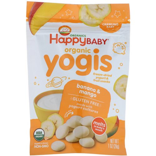 Happy Family Organics, Organic Yogis, Freeze Dried Yogurt & Fruit Snacks, Banana & Mango, 1 oz (28 g) Review