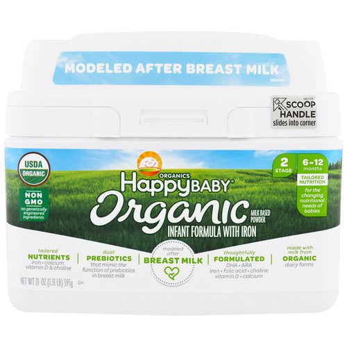 Happy Family Organics, Organics Happy Baby, Infant Formula With Iron, Stage 2, 6-12 Months, 21 oz (595 g) Review