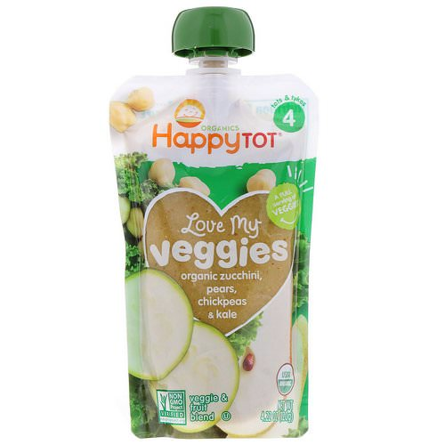 Happy Family Organics, Organics Happy Tot, Love My Veggies, Organic Zucchini, Pears, Chickpeas & Kale, 4.22 oz (120 g) Review