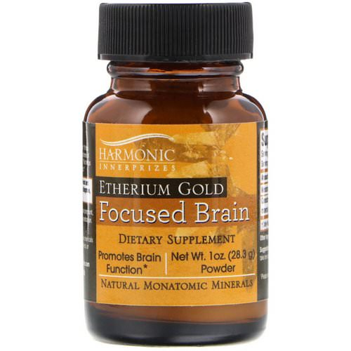 Harmonic Innerprizes, Etherium Gold, Focused Brain, 1 oz Powder (28.3 g) Review