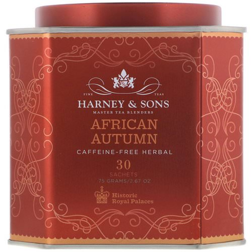 Harney & Sons, African Autumn, Caffeine-Free Herbal Tea, 30 Sachets, 2.67 oz (75 g) Review
