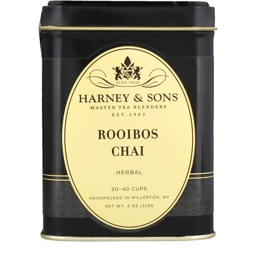 Harney & Sons, Rooibos Chai, Herbal Tea, Caffeine Free, 4 oz Review