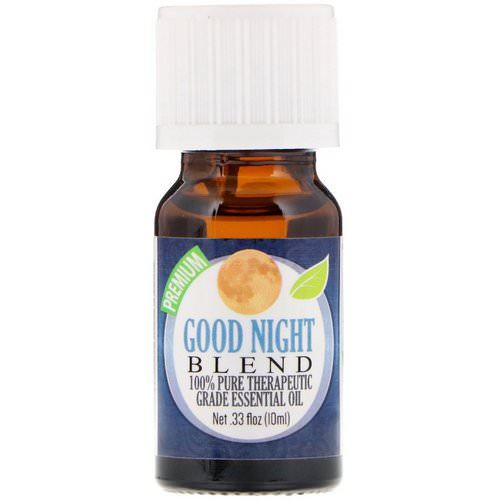 Healing Solutions, 100% Pure Therapeutic Grade Essential Oil, Good Night Blend, 0.33 fl oz (10 ml) Review