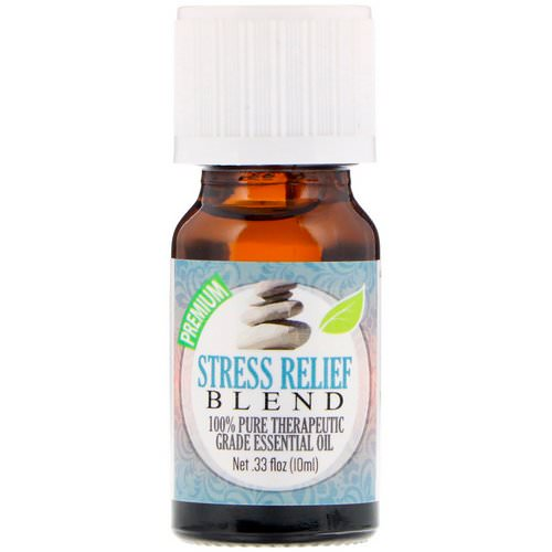 Healing Solutions, 100% Pure Therapeutic Grade Essential Oil, Stress Relief Blend, 0.33 fl oz (10 ml) Review