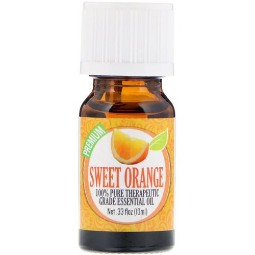 Healing Solutions, 100% Pure Therapeutic Grade Essential Oil, Sweet Orange, 0.33 fl oz (10 ml) Review