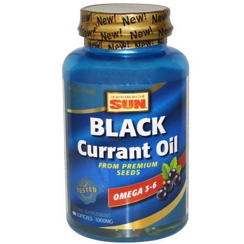 Health From The Sun, Black Currant Oil, 1,000 mg, 60 Softgels Review