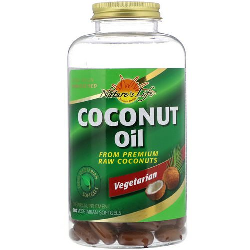 Health From The Sun, Coconut Oil, 180 Vegetarian Softgels Review