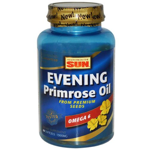 Health From The Sun, Evening Primrose Oil, Omega-6, 1300 mg, 60 Softgels Review