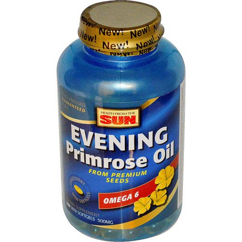 Health From The Sun, Evening Primrose Oil, Omega-6, 500 mg, 180 Mini Softgels Review