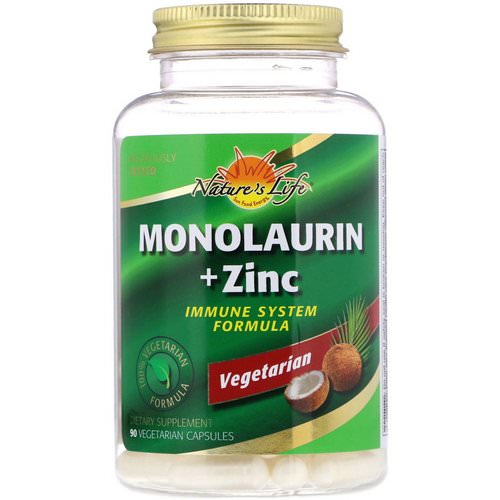 Nature's Life, Monolaurin + Zinc, 90 Vegetarian Capsules Review