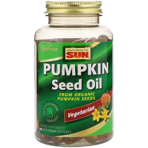 Health From The Sun, Pumpkin Seed Oil, 90 Vegetarian Softgels Review