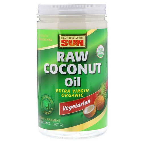 Health From The Sun, Raw Coconut Oil, 32 oz (907 g) Review
