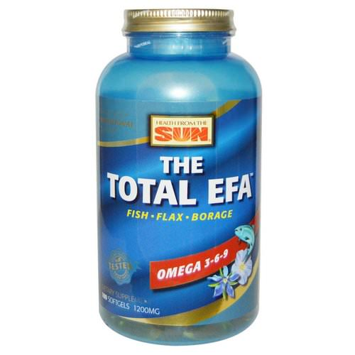 Health From The Sun, The Total EFA, Omega 3-6-9, 180 Softgels Review