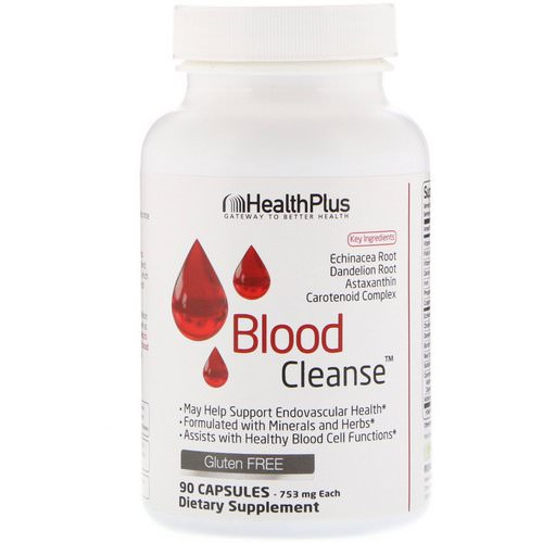 Health Plus, Blood Cleanse, 753 mg, 90 Capsules Review