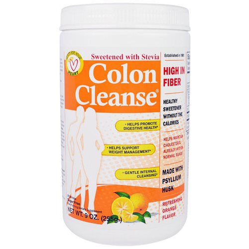 Health Plus, Colon Cleanse, Sweetened with Stevia, Refreshing Orange Flavor, 9 oz (255 g) Review