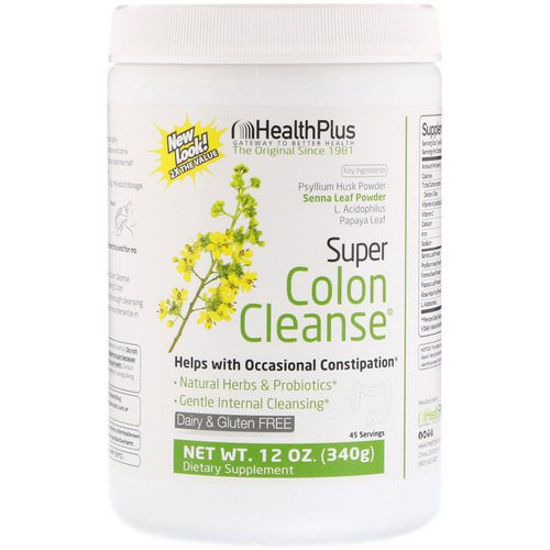 Health Plus, Super Colon Cleanse, 12 oz (340 g) Review