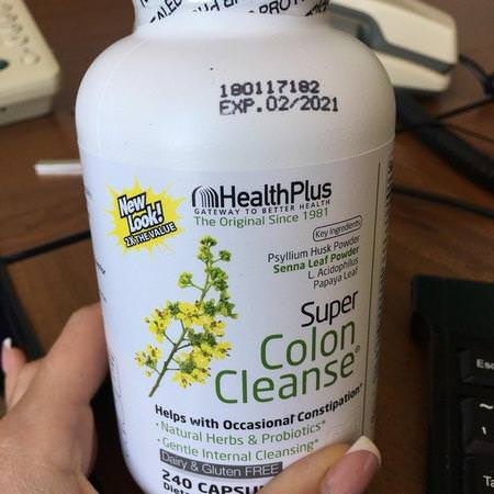 Health Plus, Super Colon Cleanse, 530 mg, 240 Capsules Review