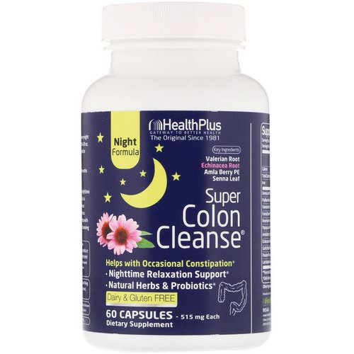 Health Plus, Super Colon Cleanse, Night, 515 mg, 60 Capsules Review