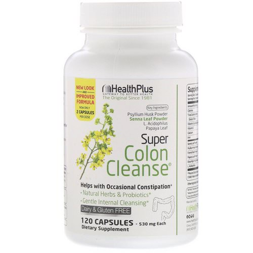 Health Plus, Super Colon Cleanse, 530 mg, 120 Capsules Review