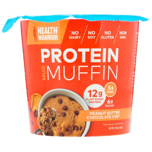 Health Warrior, Protein Mug Muffin, Peanut Butter Chocolate Chip, 2.01 oz (57 g) Review