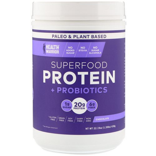 Health Warrior, Superfood Protein + Probiotics, Chocolate, 1.39 lbs (630 g) Review