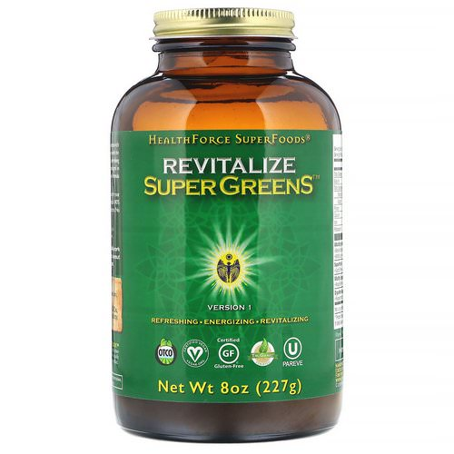 HealthForce Superfoods, Revitalize Super Greens, 8 oz (227 g) Review