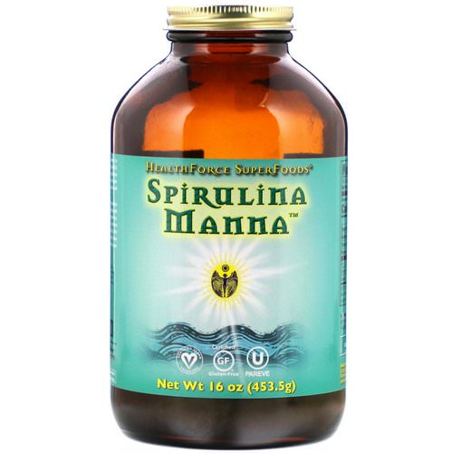 HealthForce Superfoods, Spirulina Manna, 16 oz (453.5 g) Review