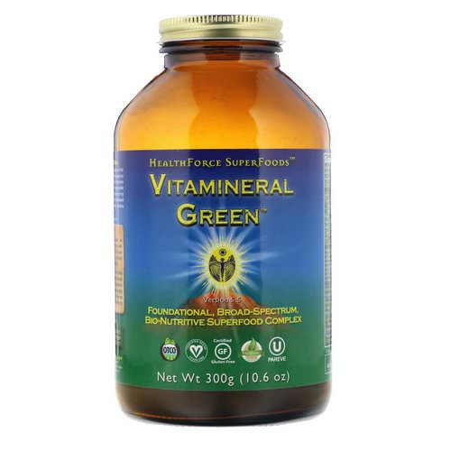 HealthForce Superfoods, Vitamineral Green, Version 5.5, 10.6 oz (300 g) Review