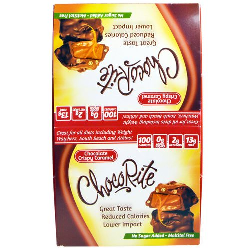 HealthSmart Foods, Chocorite, Chocolate Crispy Caramel, 16 Count, 1,13 oz (32 g) Review