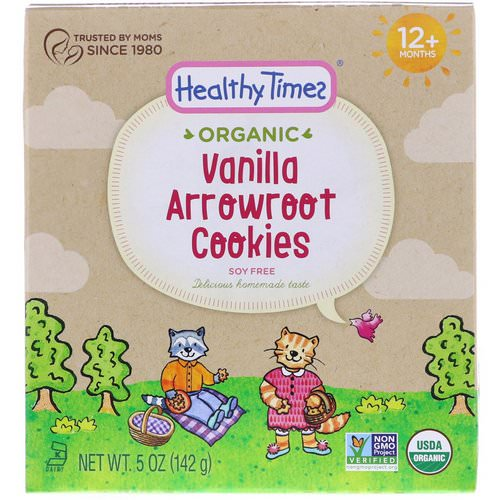 Healthy Times, Organic, Arrowroot Cookies, Vanilla, 12+ Months, 5 oz (142 g) Review