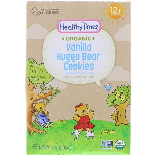 Healthy Times, Organic, Hugga Bear Cookies, Vanilla, 12+ Months, 6.5 oz (184 g) Review